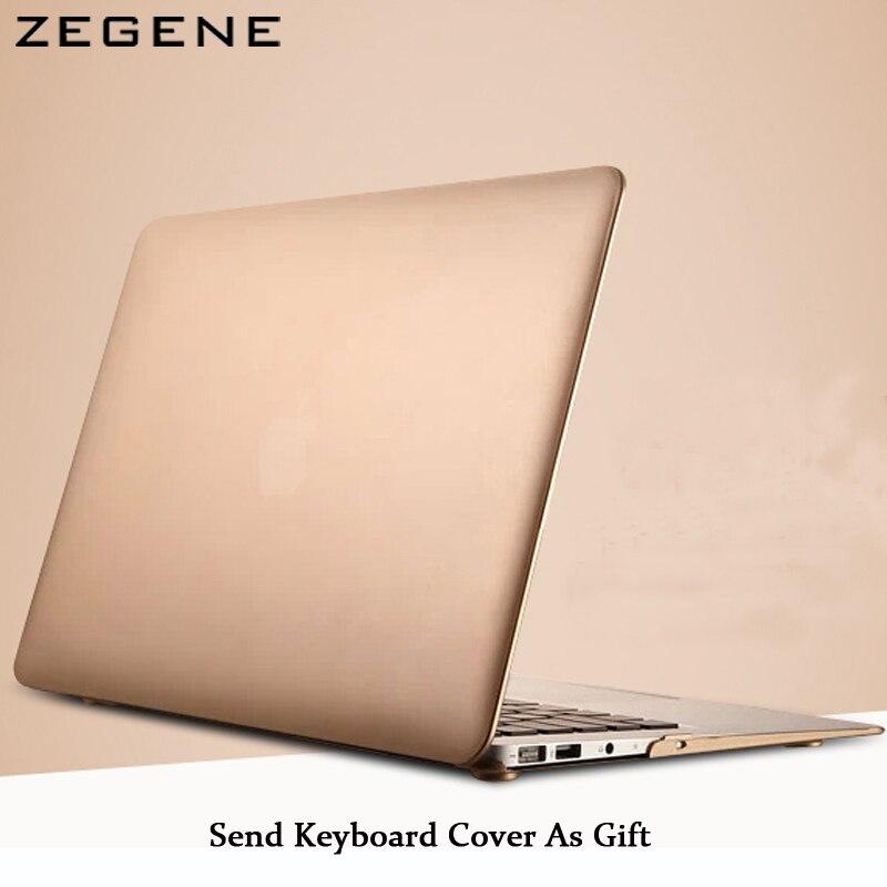 Lujo Champagne oro mate duro caso manga cubierta delantera y trasera funda para MacBook Air 11 12 pro 13 15 pro retina 13 15