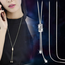 Delicate Tassel Long Necklaces & Pendants For Women 2019 Fashion Jewelry Simple Necklace Sweater Dress Accessories All Match delicate layered tassel necklace for women
