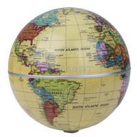 14cm Solar Powered Self Rotating World Globe Earth Map Geography Atlas Toy Children Educational Toys