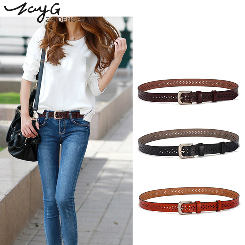 MENS FASHION REAL GENUINE LEATHER CASUAL STYLISH JEANS TROUSER WAIST BELT NEW