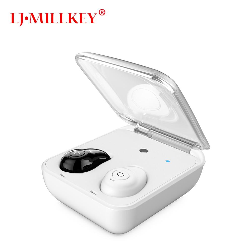где купить Mini Bluetooth In-Ear Stereo Newest Twins True Wireless Earbuds TWS Wireless Earphones With Charging Case LJ-MILLKEY YZ145 по лучшей цене