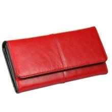 BILLETERA Women Wallet Genuine Leather Wallet Long Wallet for Ladies Day Clutch Purse