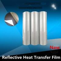 HOHOFILM 50cmx10m Reflective Heat Transfer Vinyl Safety Vinyl Heat press Vinyl Reflective 20''x33ft Wholesale Sign Vinyl