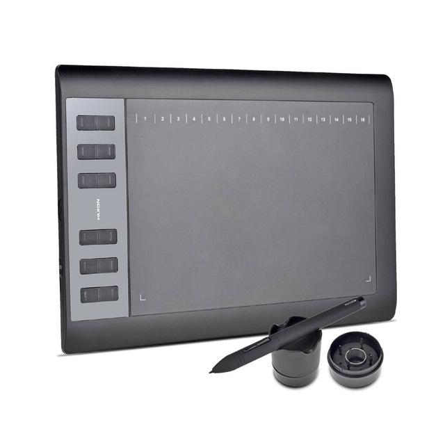 Huion 1060 pro + animación tablero de dibujo tableta gráfica dibujo tablet firma tableta con 4 gb de memoria artista guante