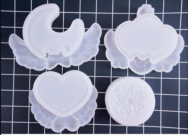 Transparent Silicone Pendant Mould Resin Decorative Craft DIY Various Shapes Storage Box Mold Epoxy Resin Molds For Jewelry