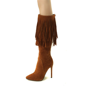 Image 5 - MORAZORA 2020 new arrival mid calf boots women pointed toe autumn winter boots sexy stiletto heels shoes fashion fringe boots