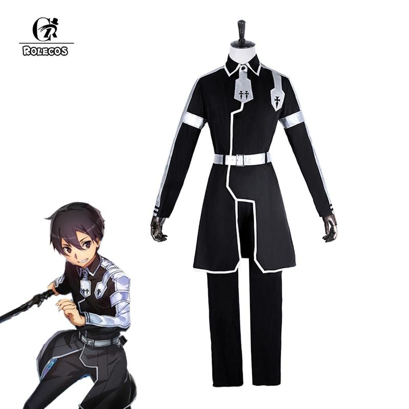 ROLECOS Sword Art Online Alicization Cosplay Costume Kazuto Kirigaya Cosplay Men Anime Costume For Party Halloween 2018 Kazuto