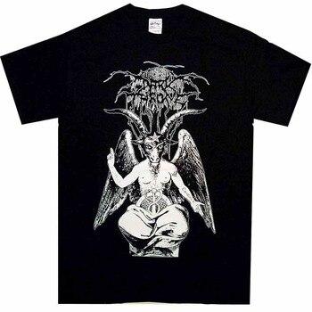 2018 lato styl darktrone Baphomet koszula sml Xl ciemny tron Tshirt czarny Metal Officl T Shirt nowy marka odzież codzienna