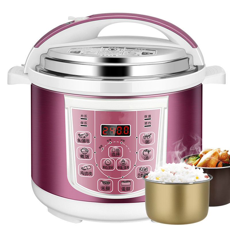 Electric Pressure Cookers double - bile and 4/5/6L smart household cooker rice cooke household automatic electric pressure cookers porridge electric 4l rice cooker pressure rice cooker jyy 40yj9 1pc