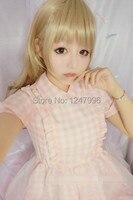 2014 NEW Summer Girls Lolita Pink Plaid Dress Cotton Fashion Cute Lovely Shiny 100 Japanese Brand