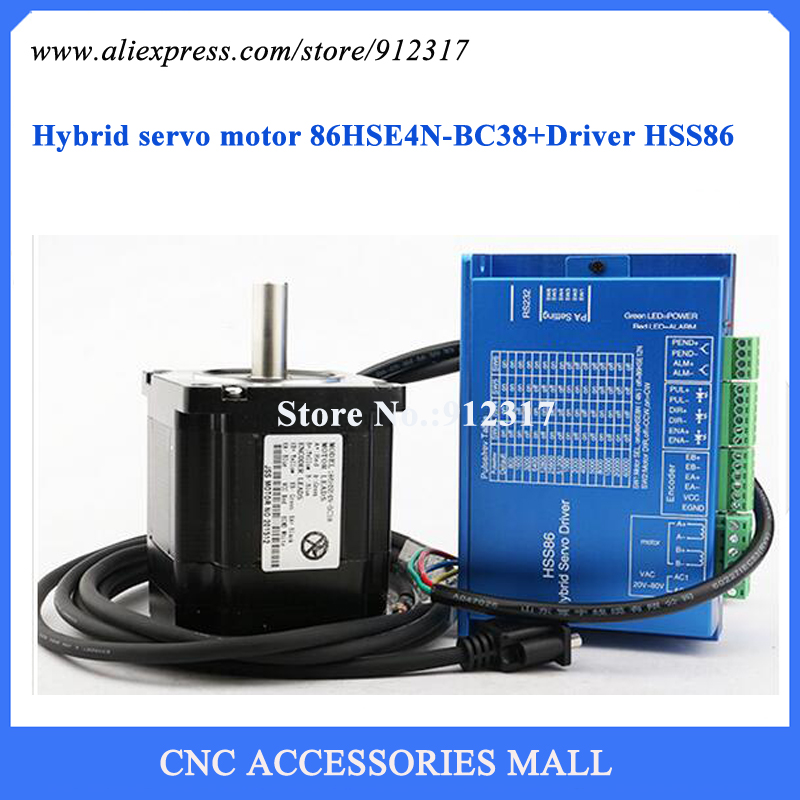 где купить Nema34 Full Closed Loop High Speed Stepping Motor Kit 4Nm Stepper Motor + Driver Hybrid Servo Set по лучшей цене