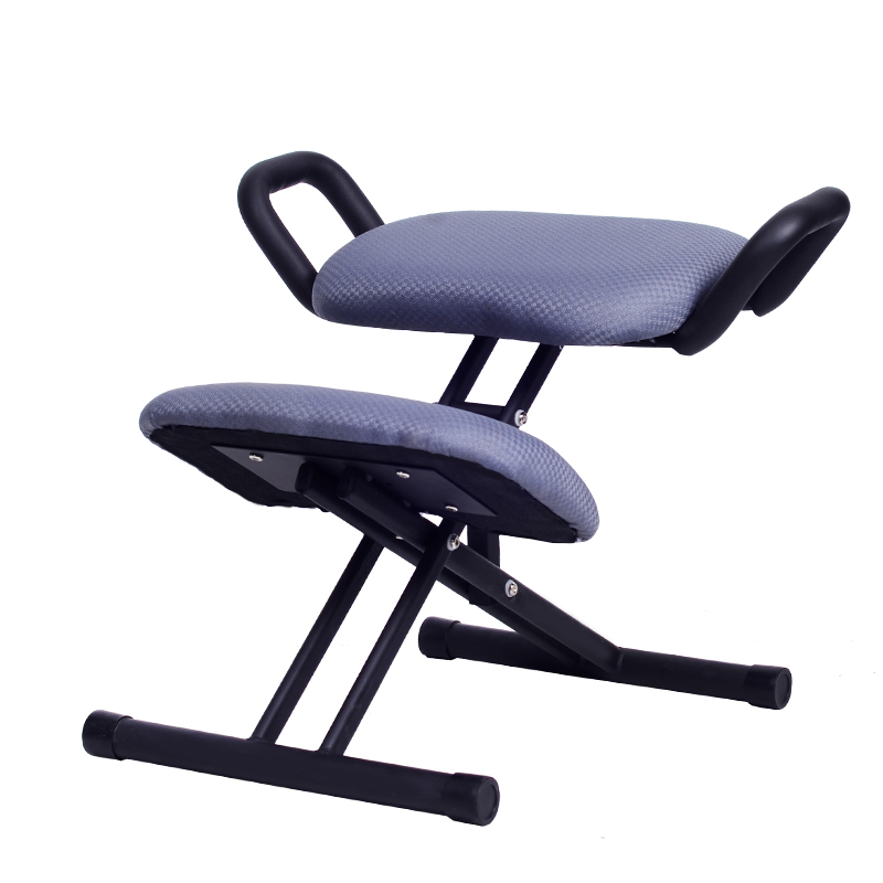 Ergonomically Designed Kneeling Chair Stool W/Handle Height Adjust Office Knee Chair Ergonomic Correct Posture Chair Home Office the silver chair