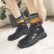 Fashion Lace Up Boots Women Ankle Ladies 2019 New Winter Short Plush Soft Punk Sexy Low Heel Boot Black