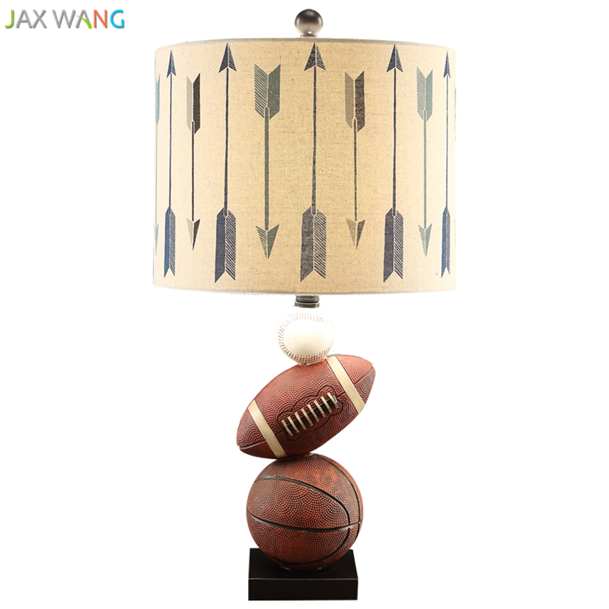 Lamps & Shades Audacious Modern Soccer Basketball Table Lamp Resin Desk Lights For Living Room Children Room Bedroom Home Lighting Wedding Decoration