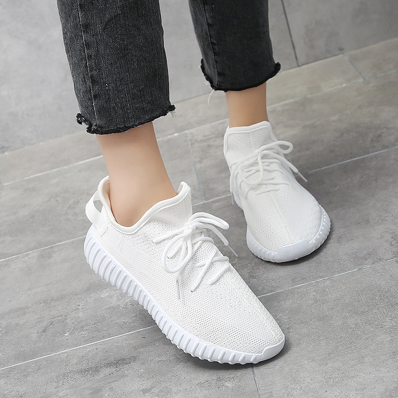 White Sneakers Fashion Women 2019 Casual Breathable Shoes Women Platform Chunky Sneakers Vulcanized Shoes Female