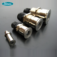 Maykit Fiber Optic Buried End Fixture For Pool Star Sky Light Made Crystal And Stainless  10pcs/Bag