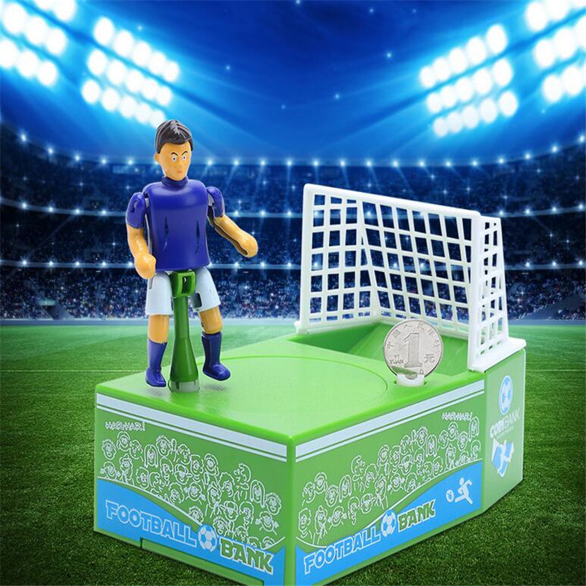Novelty products plastic soccer save money pots creative coin piggy bank piggy bank children creative gifts explosion models money talks piggy bank creative gifts strange new children s toys tricky crafts decoration