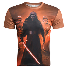 New Anime Camisetas Hombre Novelty Star Wars T-Shirts 3D Print Tops Men O-Neck Short Sleeve 2016 Male Breathable Funny Tees