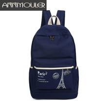 Annmoule европейский бренд Стиль женщины печати рюкзак винтажная парусиновая школьников рюкзаки для девочек-подростков Симпатичные Книга сумка