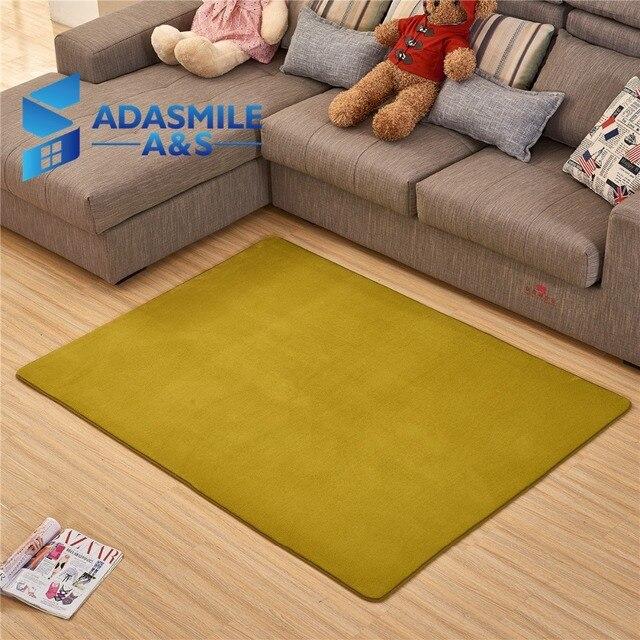 Adasmile Fashion Memory Foam Solid Mat Area Rug Bedroom Rugs Mats
