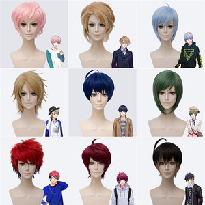 Image 1 - Nouvelle main Tour A3! Cosplay perruques Anime jeu Muku Sakisaka résistant à la chaleur cheveux synthétiques Misumi Ikaruga Halloween fête unisexe perruque