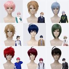 Nova mão tour a3! Perucas cosplay anime jogo muku sakisaka resistente ao calor do cabelo sintético misumi ikaruga festa de halloween peruca unissex