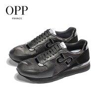 OPP/Мужская обувь; спортивная обувь больших размеров; модная мужская камуфляжная повседневная обувь на шнуровке; удобные кроссовки из натура