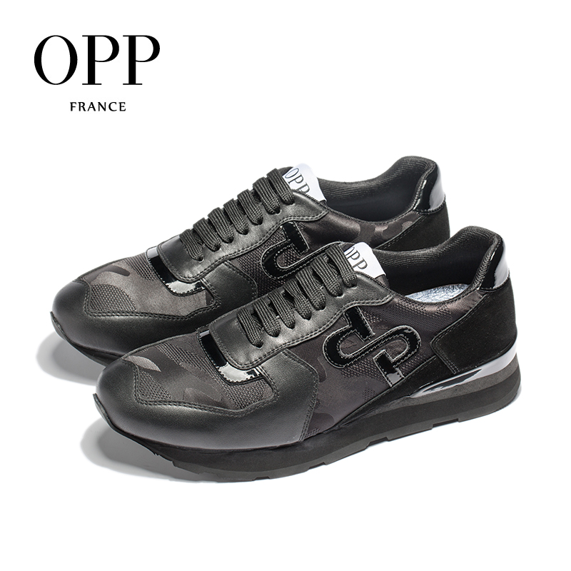 OPP Men 39 s Shoes Large Size Sports Shoes Fashion Men 39 s Camouflage Lace up Casual Shoes Comfortable Genuine Leather Sneaker in Men 39 s Casual Shoes from Shoes