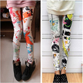 2016 Novo Verão Alta Elastic Leggings Graffiti Digital Impresso Leggings Womens Sexy Leggings Skinny Pants Ladies Aptidão Legin