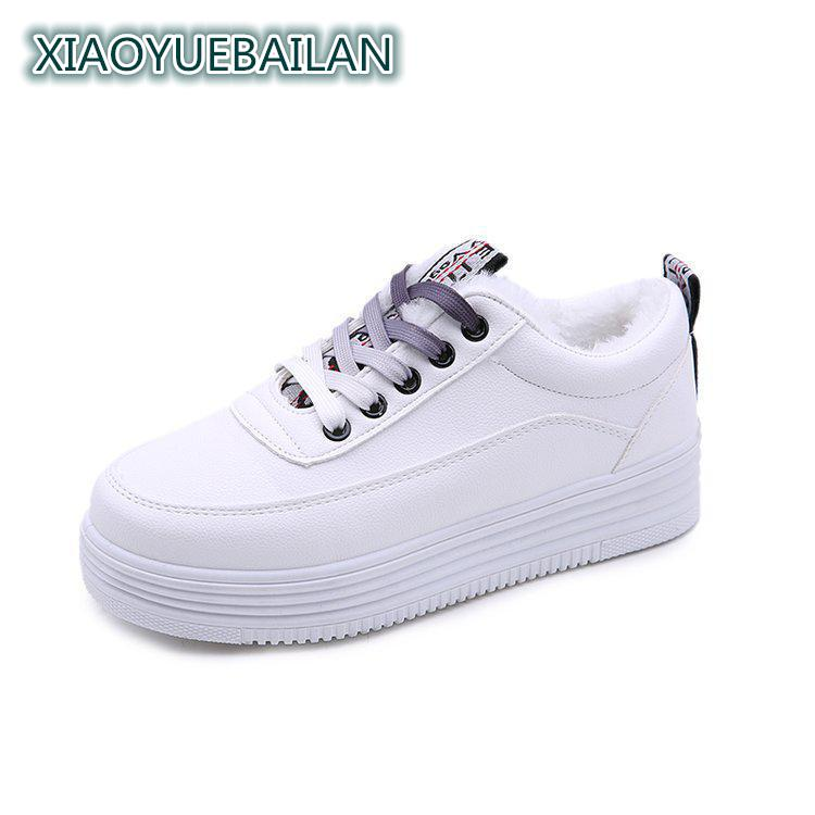2017 New White Shoes Cashmere Thermal Comfortable Simple Winter Cotton Shoes 510