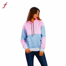 2017 Casual Hoodie Sweatshirt Long Sleeve Women Jumper Pullover Tracksuit Fashion Patchwork high quality Hoody Sudaderas Mujer