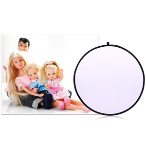 Image 3 - CY 43inch 110cm flash Translucent reflector Portable Collapsible Light Round Photography Reflector for photo Studio Photo Disc