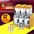 Коммерческий 3 резервуара для Замороженных Напитков  машина для производства слякоти  смузи  бесплатная доставка