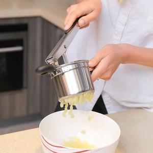 Кухня многофункциональная нержавеющая сталь Картофельная давилка чеснока Ricer с овощным фруктовым прессом er инструмент пищевая добавка для детей