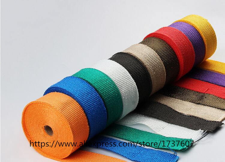 New 5M Motorcycles Exhaust Header Pipe Wrap Heat Manifold Insulation Cloth Roll With 7 color optional motorcycle protective