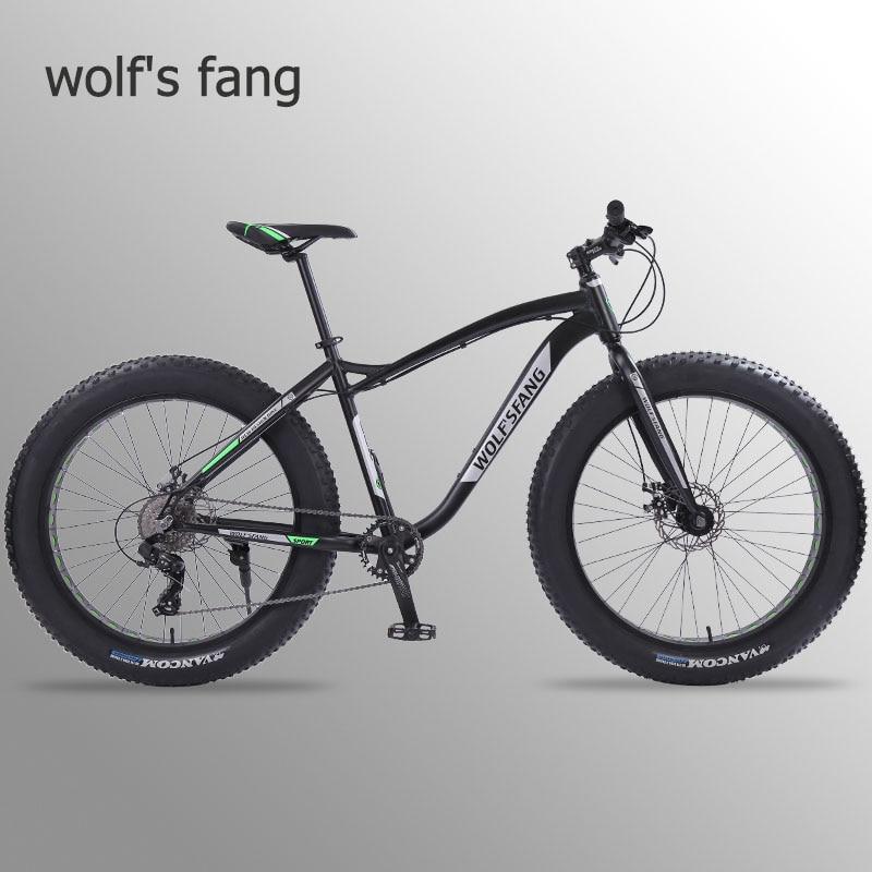 Wolf s fang new Bicycle Mountain bike 26 inch Fat Bike 8 speeds Fat Tire Snow Innrech Market.com