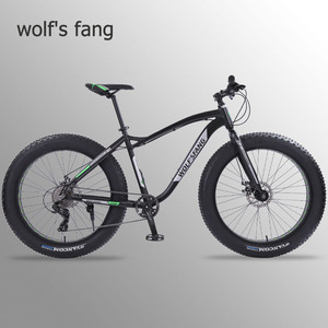 Image 1 - Wolfs fang new Bicycle Mountain bike 26 inch Fat Bike 8 speeds Fat Tire Snow Bicycles Man bmx mtb road bikes free shipping