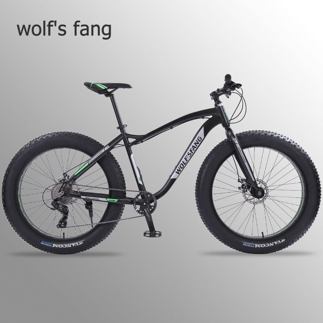 Wolfs fang new Bicycle Mountain bike 26 inch Fat Bike 8 speeds Fat Tire Snow Bicycles Man bmx mtb road bikes free shipping