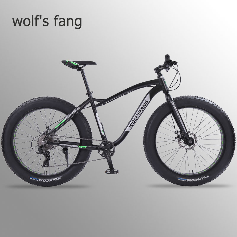 Wolf's fang new Bicycle Mountain <font><b>bike</b></font> 26 inch Fat <font><b>Bike</b></font> 8 speeds Fat Tire Snow Bicycles Man bmx mtb road <font><b>bikes</b></font> free shipping image
