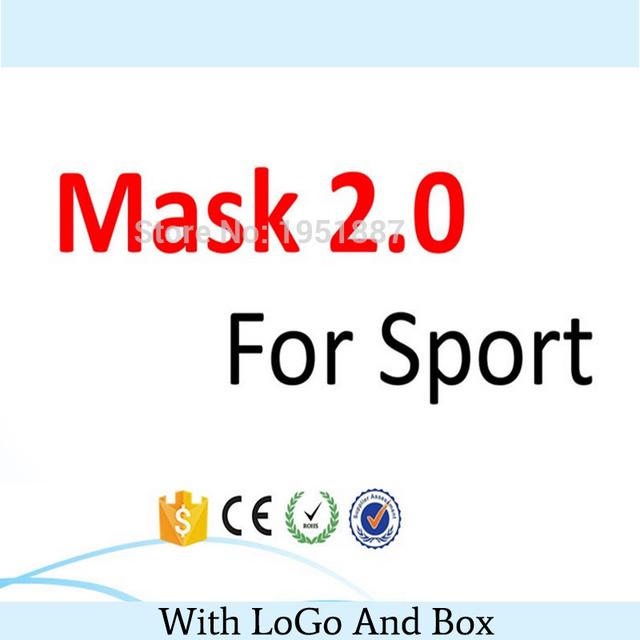 Mais novo Esporte Treinamento Máscara 2.0 Para Homens de Fitness Ou Esporte Ao Ar Livre Com a Caixa, o Logotipo E Frete Grátis