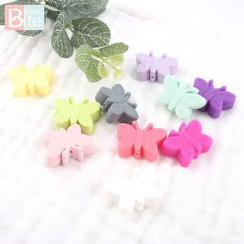 bite bites marble silicone teething beads bpa free silicone nursing necklace for mom necklace baby silicone teether baby teether Bite Bites 5PC Silicone Butterfly Teether Chewable Beads Pendant BPA Free Safe And Natual Nursing Necklace Teething Baby Teether