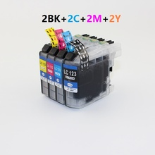 XIMO 2 SETS OF 4 LC123 Compatible Ink Cartridge For MFC J4610DW J470DW J4920D etc.