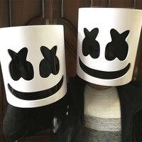 2019 Mask Marshmallow Helmet Marshmallow DJ Mask Face Hat Music Fans Concert Props Helm PVC EVA Halloween Christmas Cosplay Toy