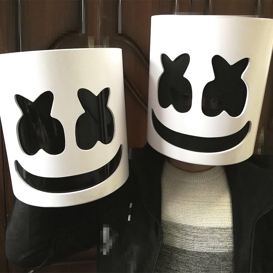2019 masque guimauve casque guimauve DJ masque visage chapeau musique Fans Concert accessoires barre PVC EVA Halloween noël Cosplay jouet