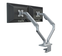 M820 Aluminum Alloy Gas Spring Dual Screen Monitor Holder Full Motion Monitor Mount Long Arm LED LCD Monitor Support