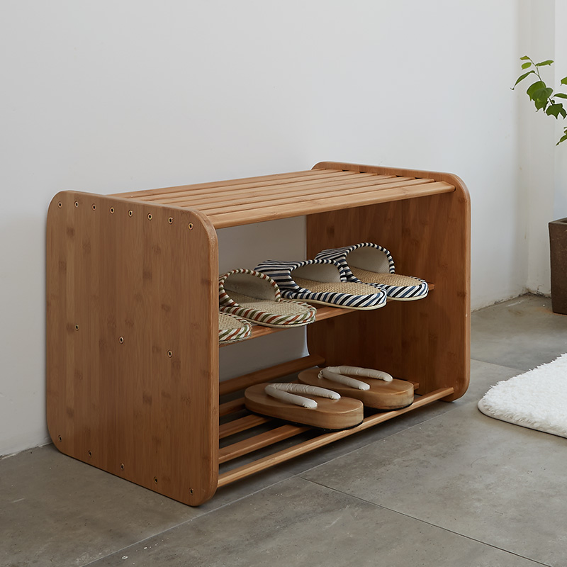 ZEN'S BAMBOO Shoes Cabinet Shoes Storage Box Chair for changing shoes  Bamboo stool Wooden ottoman - Compare Prices On Storage Ottoman Chair- Online Shopping/Buy Low