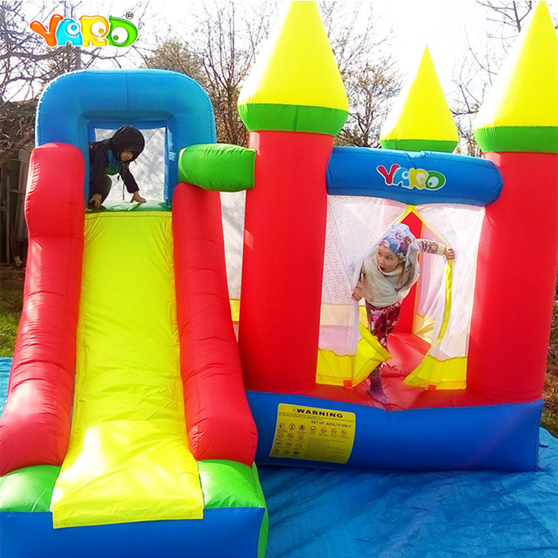 YARD Home Used Kids Inflatable Bounce House Inflatable Jumping Castle Bouncer with Amazing Bonus for Party Events giant super dual slide combo bounce house bouncy castle nylon inflatable castle jumper bouncer for home used