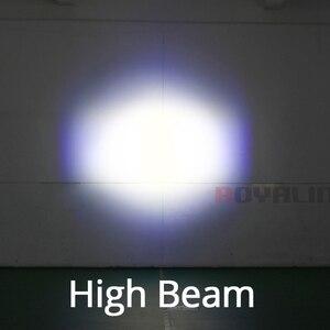 Image 5 - Royalin carro led farol alto lente do projetor com diabo olhos luzes da motocicleta para h1 h4 h7 9005 lâmpadas retrofit diy