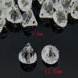 Image 2 - 50pcs perles en diamants en acrylique transparent, perles à facettes, remplissage de vase de table, pirate, cristaux, à réaliser soi même, décorations de fête, 12.0mm