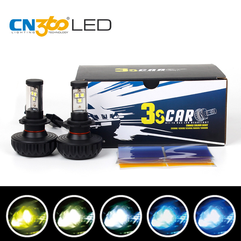 CN360 2PCS H7 Cree LED Chips Car Headlights Kit 30W 3000lm Auto Front Light Fog Bulb Plug&Play Automotive Headlamp No Fan Design 2503art large murals3d can be custom made furniture decorative wallpaper house ornamentation decor wall stickers chinese style